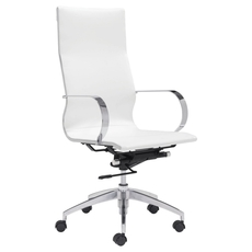 Zuo Modern Glider Hi Back Office Chair in White