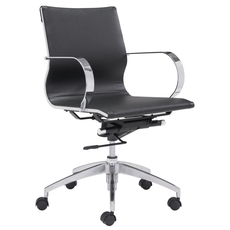 Zuo Modern Glider Low Back Office Chair in Black
