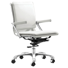 Zuo Modern Lider Plus Office Chair in White