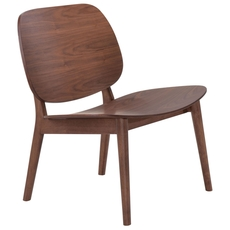 Zuo Modern Priest Lounge Chair in Walnut Set of 2