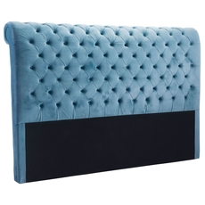 Zuo Modern Sergio King Headboard in Blue Velvet