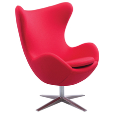 Zuo Modern Skien Arm Chair in Red