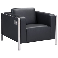 Zuo Modern Thor Arm Chair in Black
