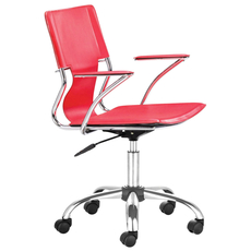 Zuo Modern Trafico Office Chair in Red