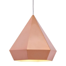 Zuo Pure Forecast Ceiling Lamp in Rose Gold